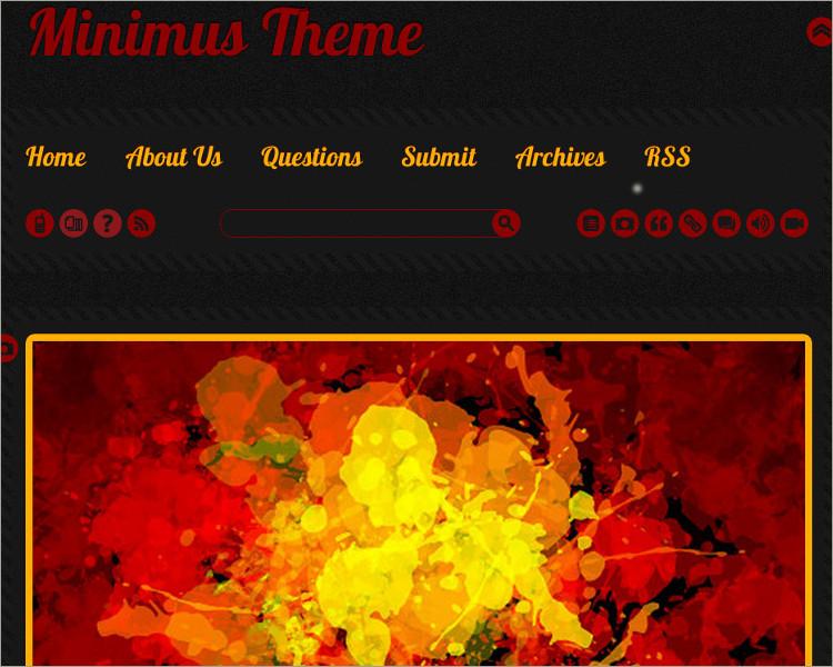 Minimal Tumblr Theme