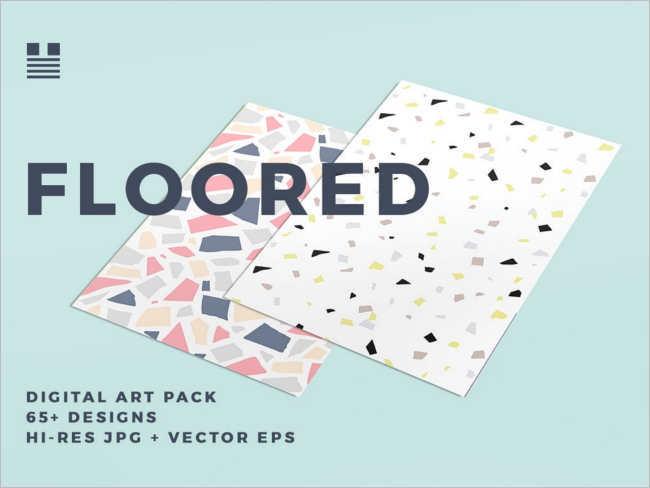 Modern Floor Tile texture design