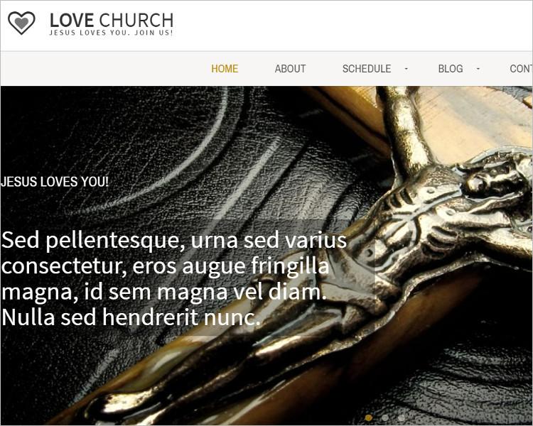 Modern Love Church Bootstrape Template