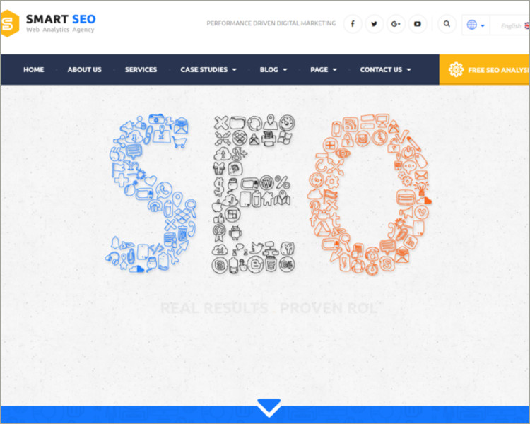 Modern SEO & Marketing WordPress Theme
