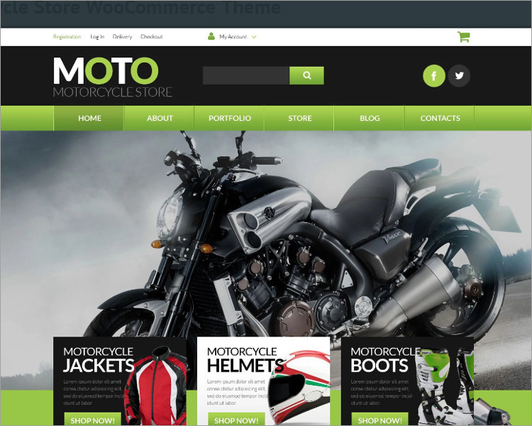 Moto Cycle Stor WordPress Templates