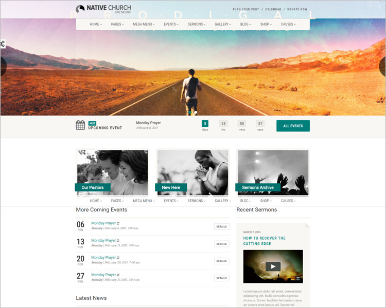 Multi purpose Church Bootstrap Template