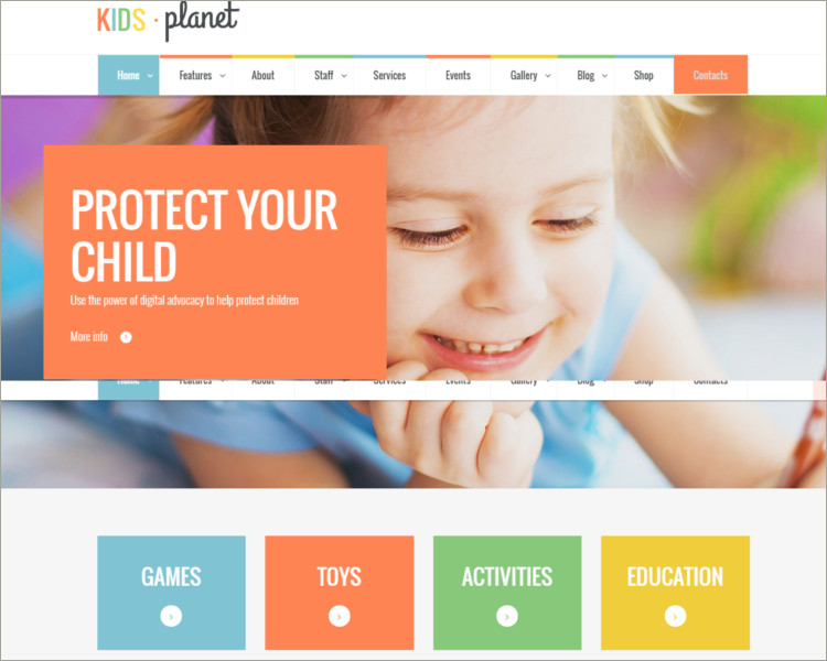 Multipurpose Children WP Theme