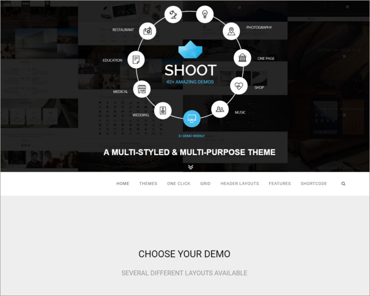 Multipurpose & Multi Styled Theme