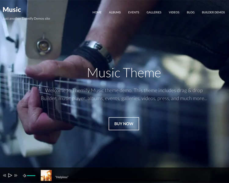 Music Band WordPress Templates