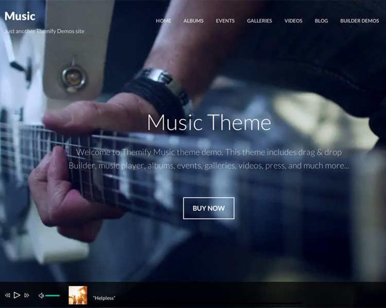 Music Band WordPress Templates