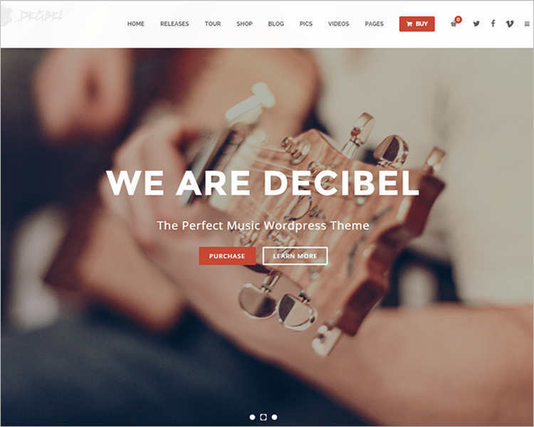 Music Event WordPress Template