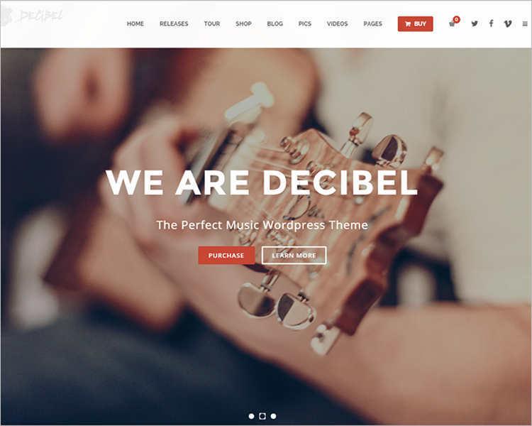 Music Event WordPress Template