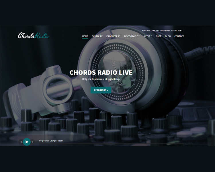 Music Oriented WordPress Template