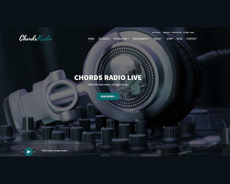Music Oriented WordPress Template