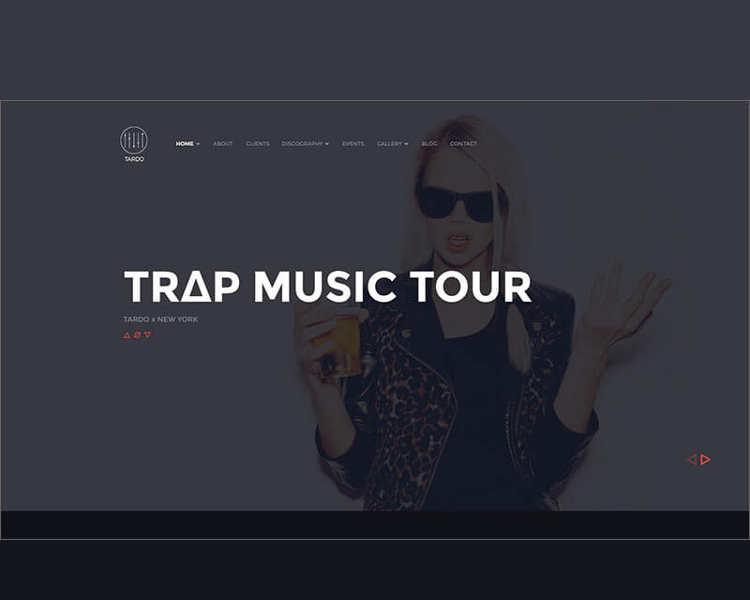Music Store WordPress Template
