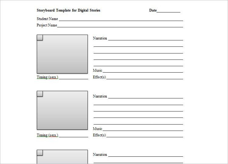 Music Video Storyboard Template
