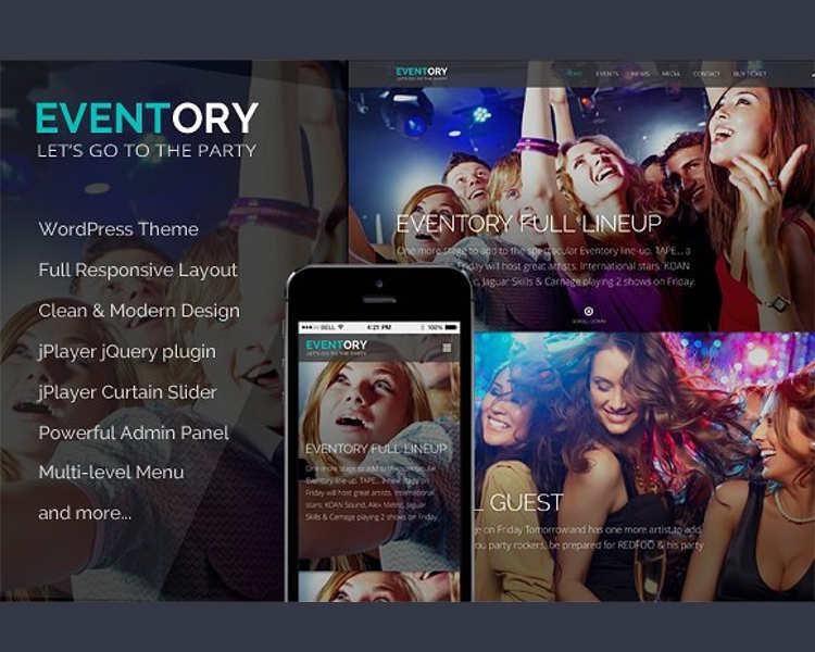 Music WordPress Mobile Template