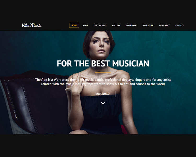 Music WordPress Responsie Template