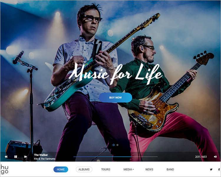Music WordPress Site Template