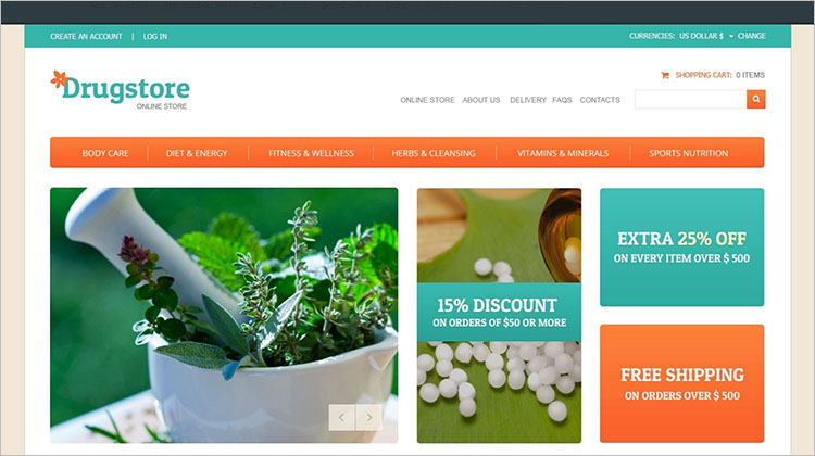 Nature Drug Joomla Templates