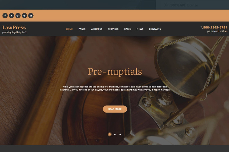 New Law firm WordPress Templates