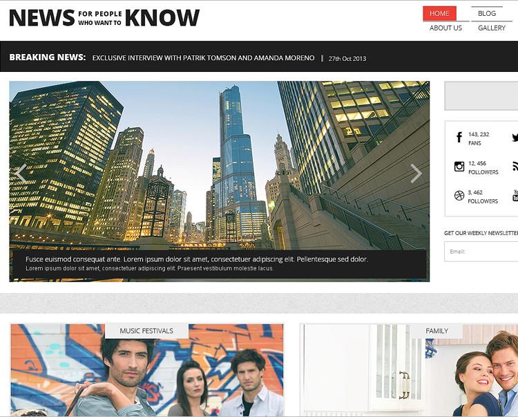 News Blog Website Themes & Templates