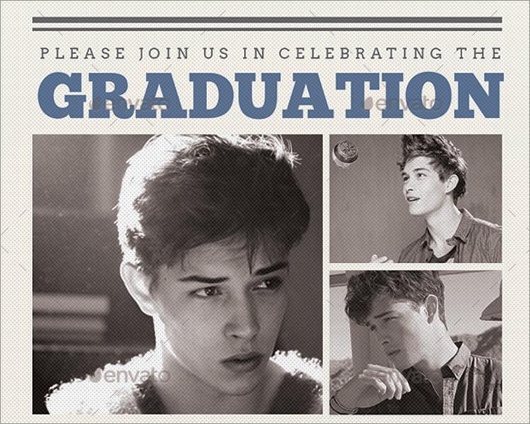 Newspaper Graduation invitation