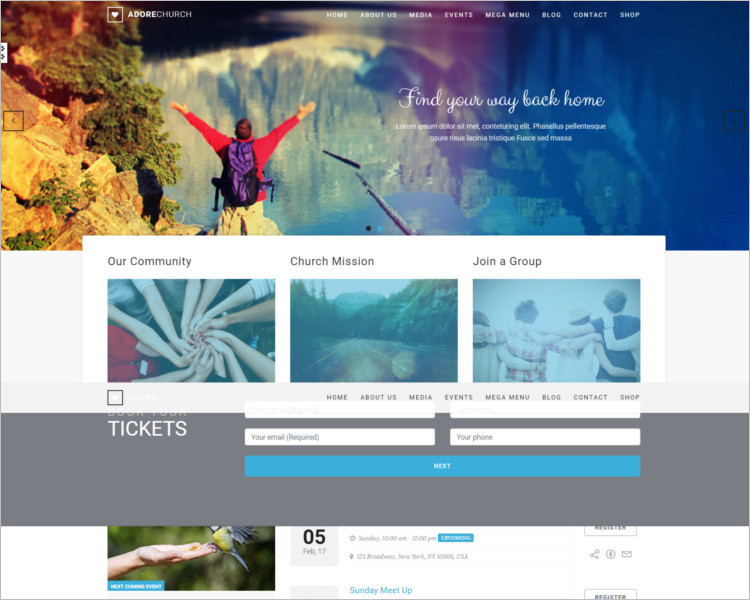 Non-Profit Church Bootstrap Template