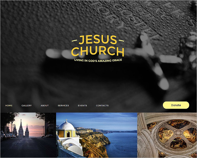 One Page Church Bootstrap Template