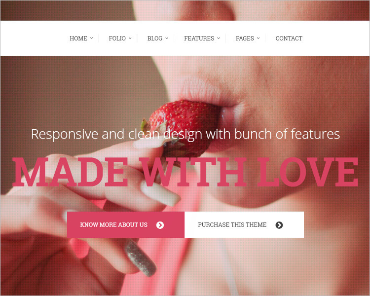 One Page Photography Website Template