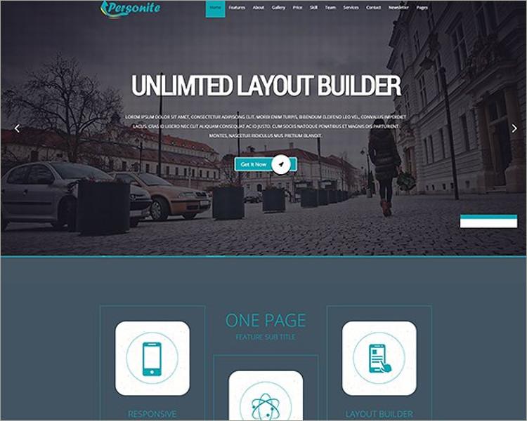 OnePage Joomla Template