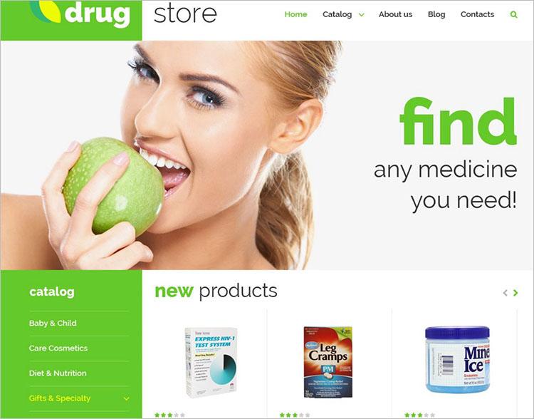 Online Medicine Joomla Templates