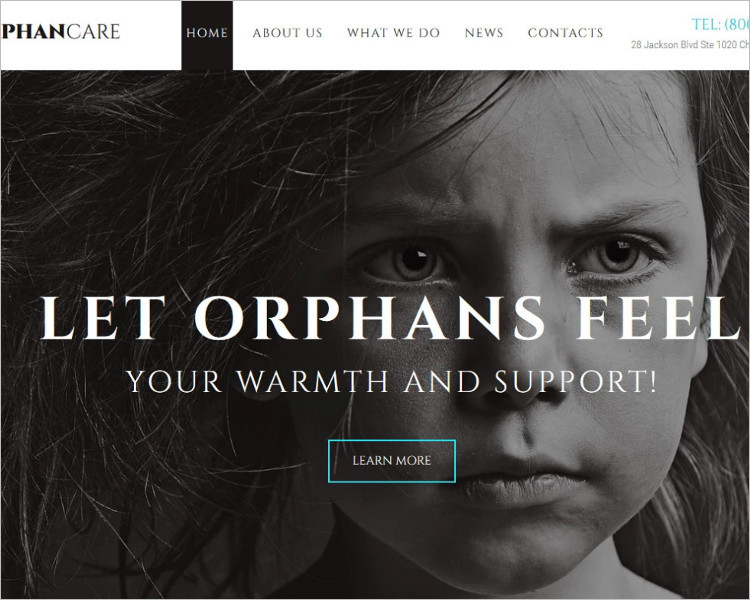 OrphanCare Bootstrape Website Template