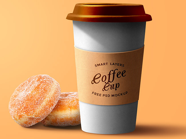 Paper Coffee Cup PSD Mockup Template