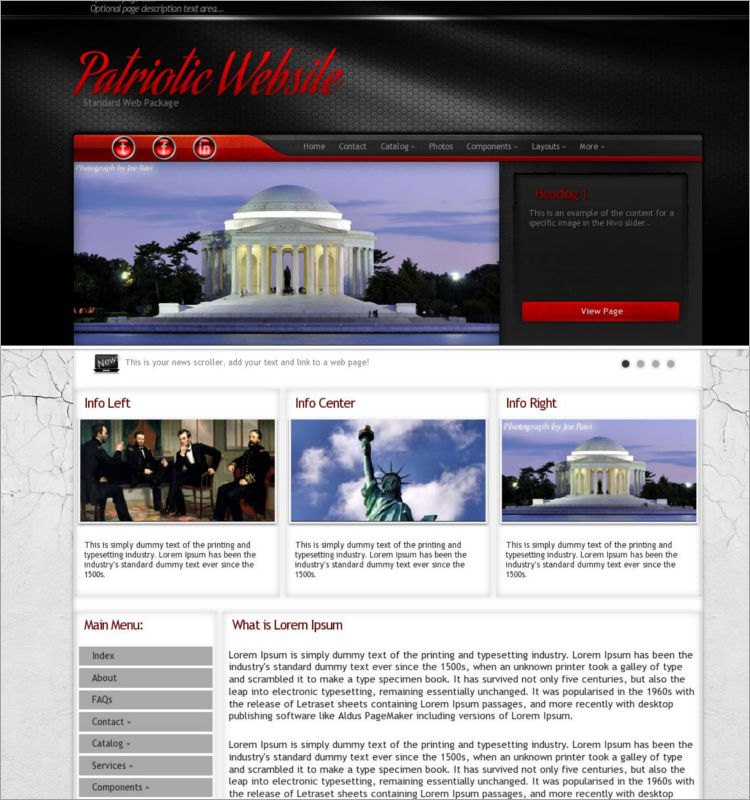 Patriotic Word Press Theme
