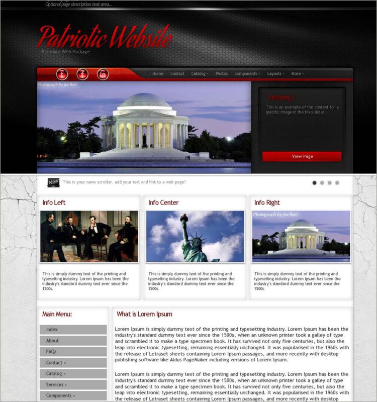 Patriotic Word Press Theme