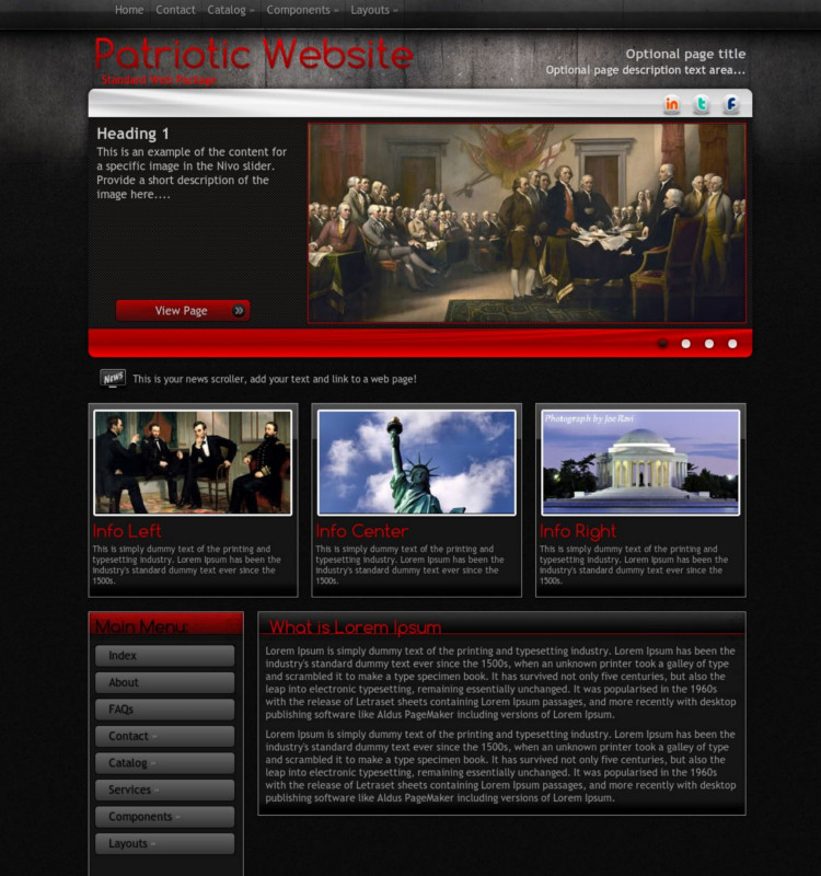 Patriotic WordPress Theme & Template