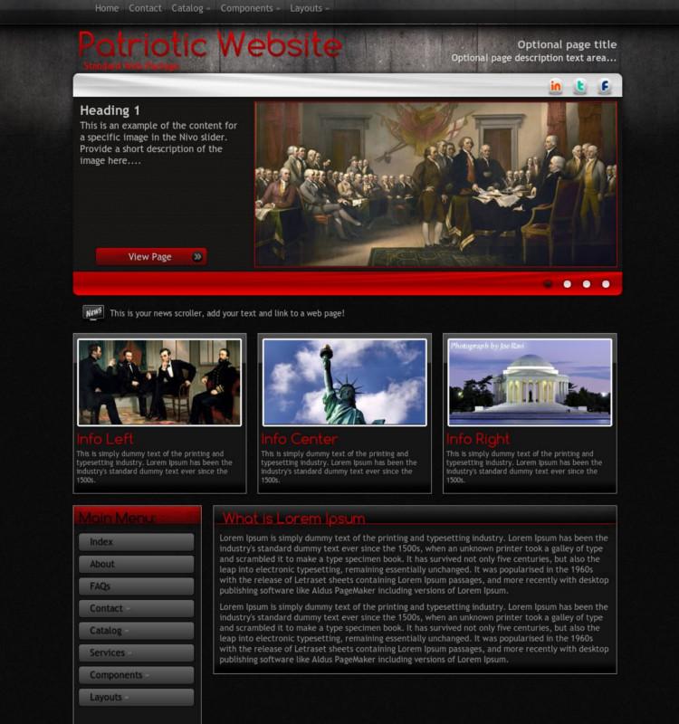 Patriotic WordPress Theme & Template