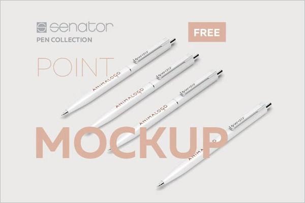 Pen Mockup PSD Free