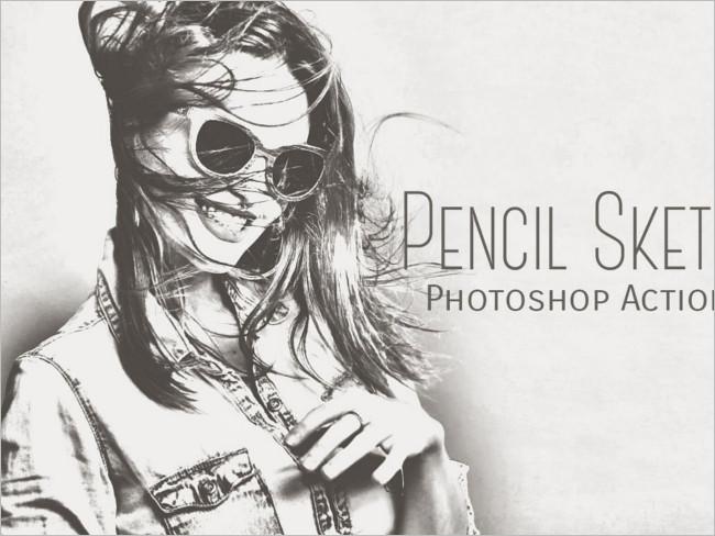 Pencil Sketch Photoshop Options