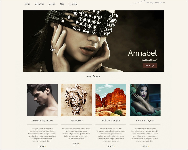 Personal Bootstrap Website Template