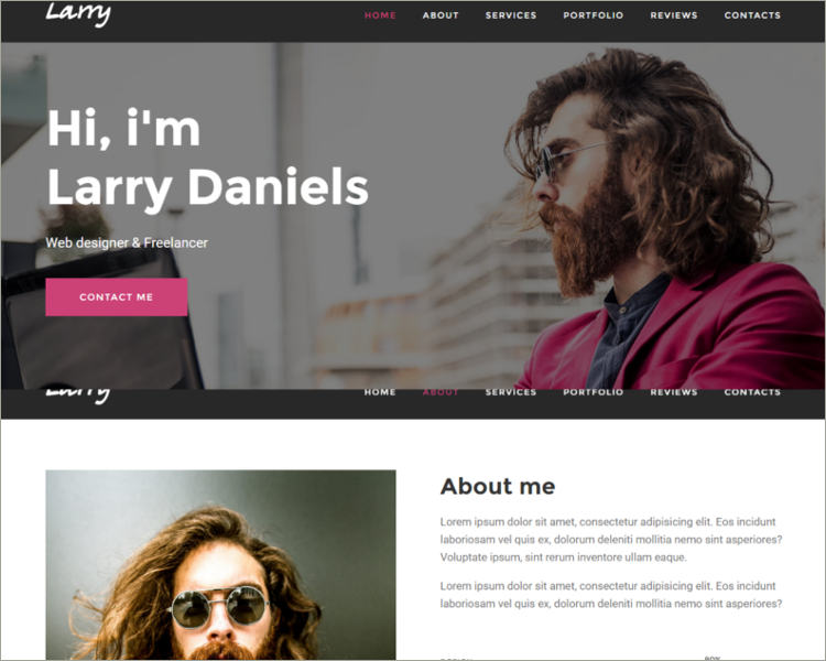 Personal Onepage Template