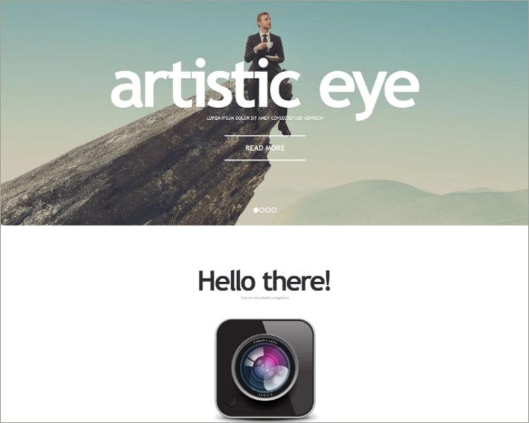 Photographer Responsive Website Template