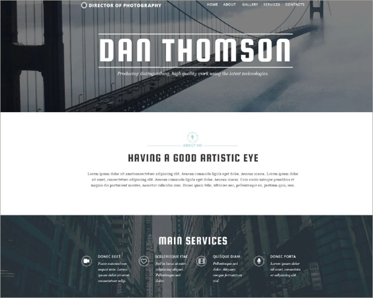 Photographers Responsive Website Template