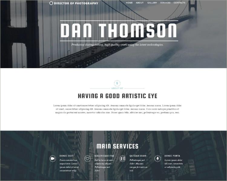 Photographers Responsive Website Template