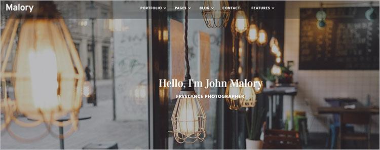 Photography Design Theme Templates