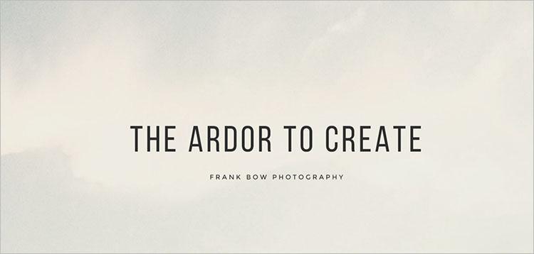 Photography Portfolio Theme Templates