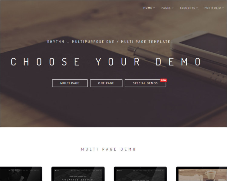 Photography WordPress template