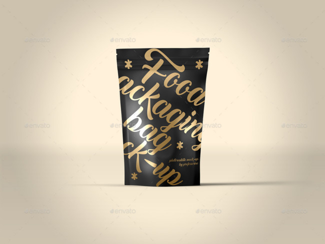 Photorealistic Food Packaging Bag Mock-Up