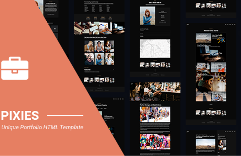 Pixies Portfolio Agency Template