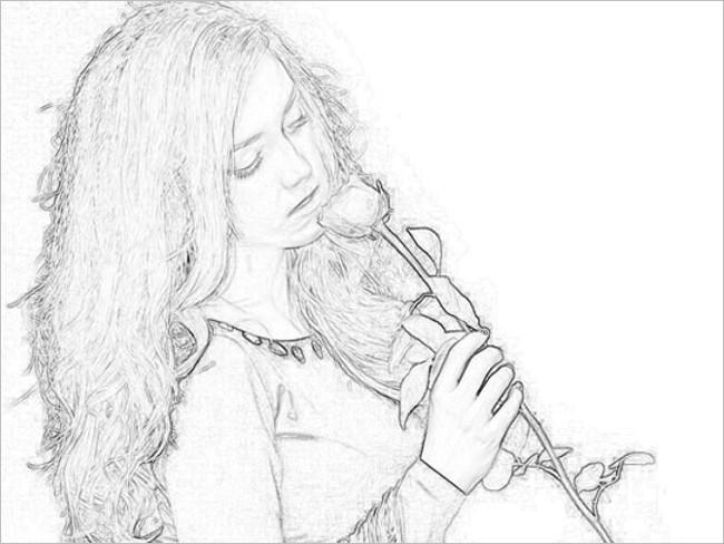 Plain Pencil Photoshop Drawing