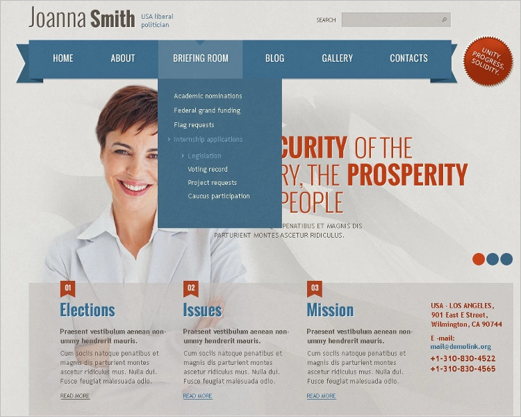 Political Candidate Evoluation Joomla Template