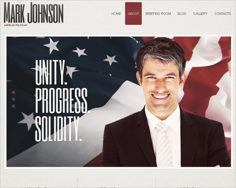 Political Candidate Guide Joomla Template