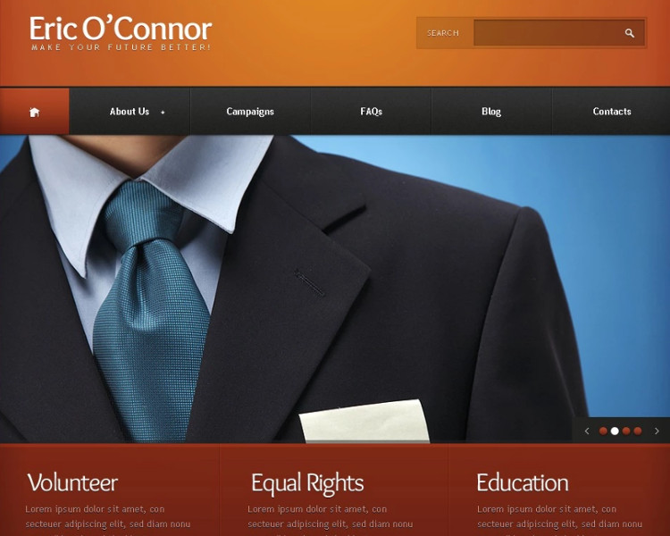 Political Candidate Information Joomla Template